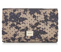 Lizzie Minitasche aus dunkelblauer Blumenspitze