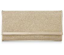 Milla Kontinentale Brieftasche aus Goldlamé-Glitzergewebe