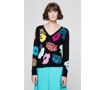 Pullover aus Schurwolle mit dekorativen Details