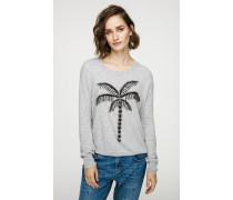 Pullover mit aufgestickten Ziersteinchen