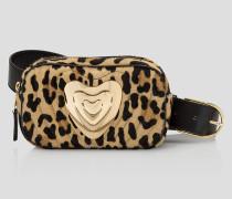 Gürteltasche mit Kalbsfell und Leopardenprint