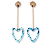Glitzernde Heart Ohrhänger