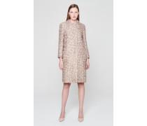 Mantel aus Metallic-Tweed