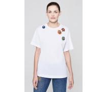 T-Shirt mit dekorativen Strass-Details