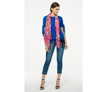 Jeans mit Perlen- und Pailettenbesatz
