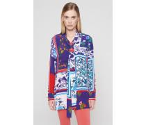 Bluse aus Seidenmix mit Print