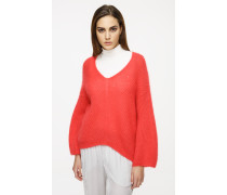 Oversize-Pullover aus Mohair-Wolle-Mix