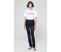 Slim-Fit-Jeans mit Logoprägung