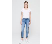 Skinny Jeans mit Kontraststreifen am seitlichen Bein