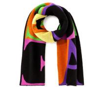 Logo-Schal aus Kaschmir und Baumwolle