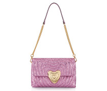Heart Bag aus Metallic-Leder