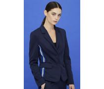 Jersey-Blazer mit seitlichen Streifen