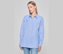 Hemd aus Leinen-Baumwolle-Mix mit Nieten