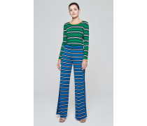 Jersey-Hose mit Streifen-Dessin
