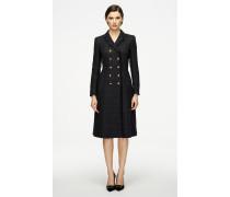 Tweed-Mantel aus Wollmix mit Lurex