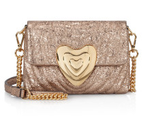 Heart Bag aus Metallic-Leder, klein