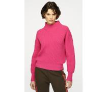 Pullover aus Wolle und Kaschmir mit Trichterkragen