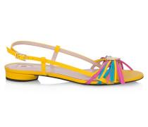 Leder-Sandalen im Multicolor-Look