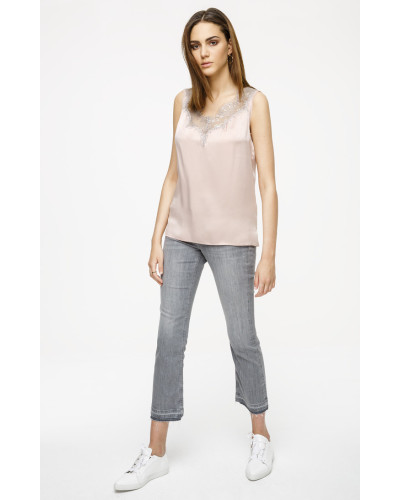 Knöchellänge Slim-Fit-Jeans mit geradem Bein
