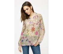 Bluse aus Seiden-Chiffon mit Print