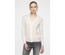 Strick-Cardigan mit Lurex