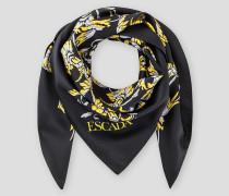 Silk Baroque Floral Scarf