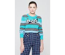 Pullover aus Wolle-Kaschmir-Mix mit dekorativen Details