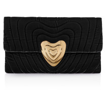 Clutch Bag Heart aus Samt