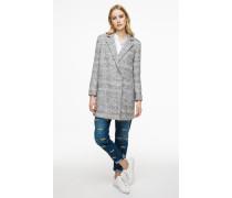 Mantel aus einem strukturierten Wolle-Mix