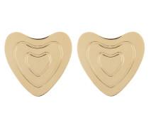 Goldfarbene Ohrringe Heart