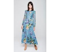 Maxi-Kleid mit Rüschen und Print