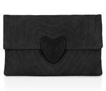 Clutch Bag Heart aus Veloursleder