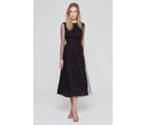 Kleid mit raffiniertem Spitzen-Overlay