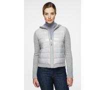 Jacke aus Wolle/Kaschmir mit gepolsterter Front