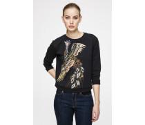 Sweatshirt mit edlen Lurex-Details