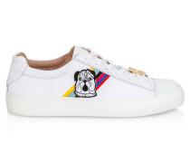 Sneakers aus Canvas und Leder