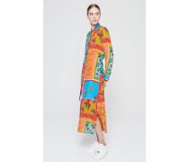 Kleid aus Seiden-Mix mit Print
