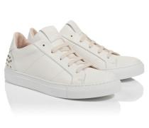 Sneaker aus Leder mit Nieten-Details