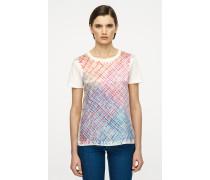 T-Shirt aus Baumwolle-Seiden-Mix