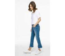 Knöchellange Jeans mit ausgestelltem Bein