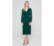 Bedrucktes Chiffon-Kleid im Wickeldesign