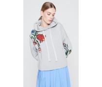 Kapuzen-Sweatshirt mit Stickerei