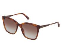 Oversize-Sonnenbrille in Schildplatt-Optik