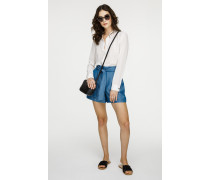 Chambray-Shorts mit Bindegürtel