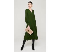 Langärmeliges Kleid aus Woll-Twill