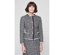Tweed-Jacke mit Zierknöpfen