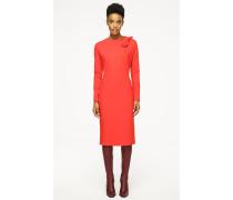 Jersey-Kleid mit Schleife am Ausschnitt
