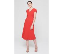 Crepe A-Linien Kleid