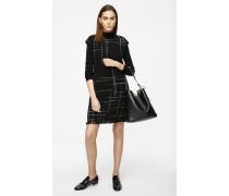 Tweed-Kleid mit Wolle