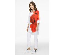 Bluse aus Baumwoll-Popeline mit Print